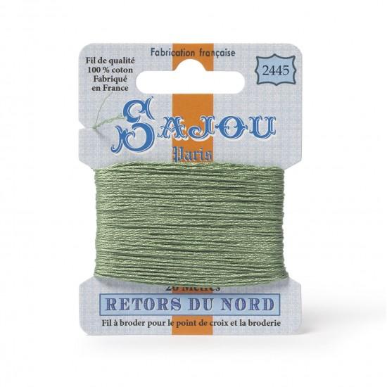 Sajou Retors Du Nord Cotton Embroidery Thread-2445 Green