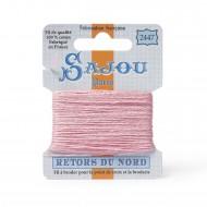 Sajou Retors Du Nord Cotton Embroidery Thread-2447 Pink