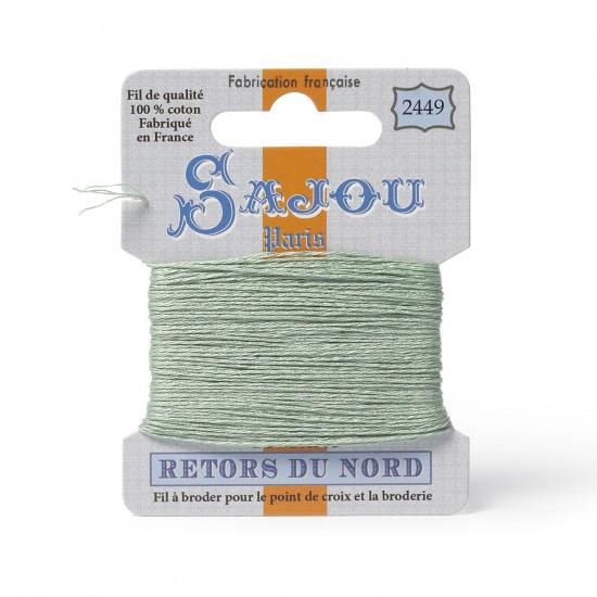 Sajou Retors Du Nord Cotton Embroidery Thread-2449 Green