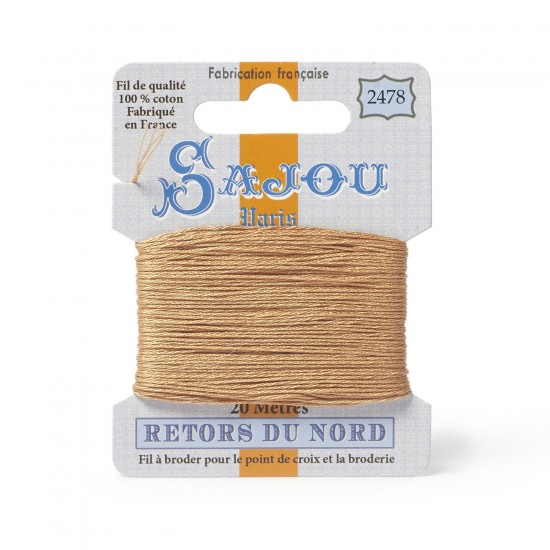 Sajou Retors Du Nord Cotton Embroidery Thread-2478-Orange