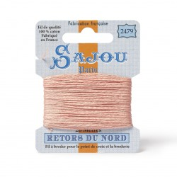 Sajou Retors Du Nord Cotton Embroidery Thread-2479 peach