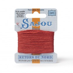 Sajou Retors Du Nord Cotton Embroidery Thread-2491 Orange