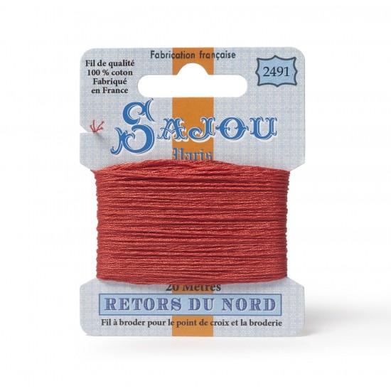 Sajou Retors Du Nord Cotton Embroidery Thread-2491 Orange
