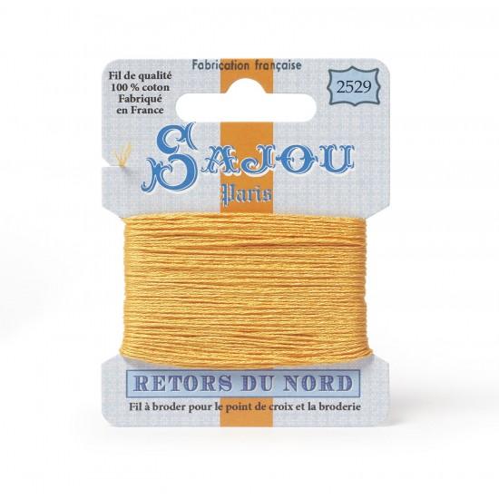 Sajou Retors Du Nord Cotton Embroidery Thread-2529-Orange