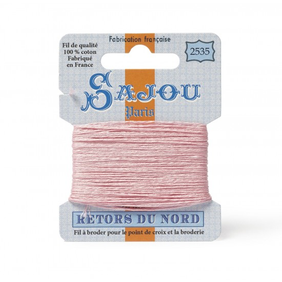 Sajou Retors Du Nord Cotton Embroidery Thread-2535 Pink