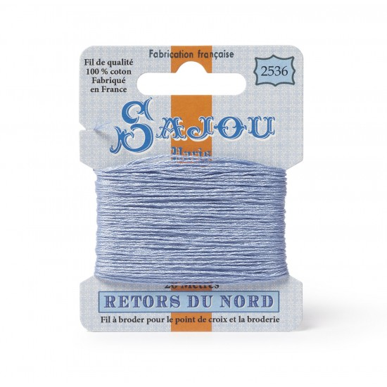 Sajou Retors Du Nord Cotton Embroidery Thread-2536 Blue