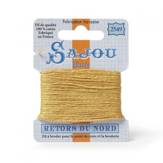 Sajou Retors Du Nord Cotton Embroidery Thread-2549-Orange