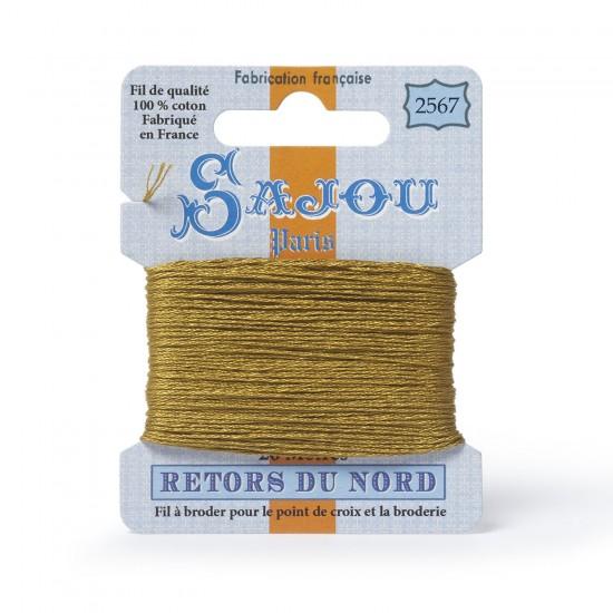 Sajou Retors Du Nord Cotton Embroidery Thread-2567 Mustard Yellow