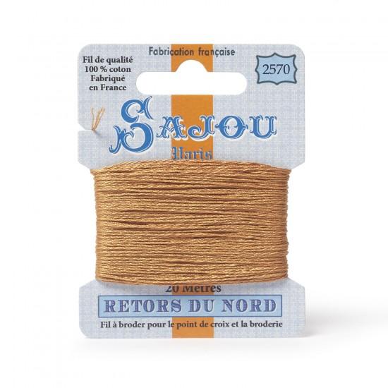 Sajou Retors Du Nord Cotton Embroidery Thread-2570-Orange
