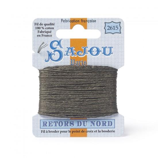 Sajou Retors Du Nord Cotton Embroidery Thread-2615 Khaki Green