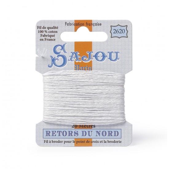 Sajou Retors Du Nord Cotton Embroidery Thread-2620 Grey