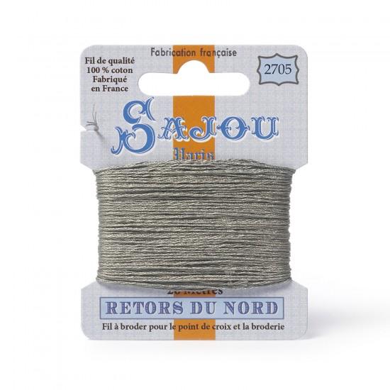 Sajou Retors Du Nord Cotton Embroidery Thread-2705 Grey