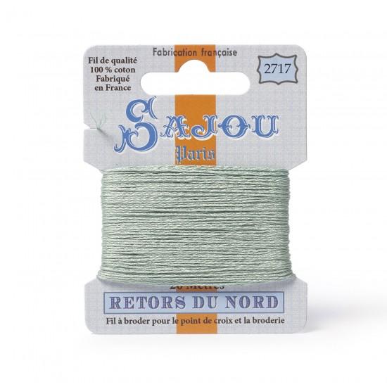 Sajou Retors Du Nord Cotton Embroidery Thread-2717 Green