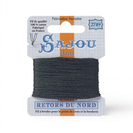 Sajou Retors Du Nord Cotton Embroidery Thread-2749 Green