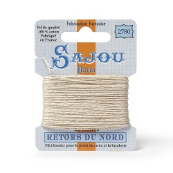 Sajou Retors Du Nord Cotton Embroidery Thread-2780 Cream