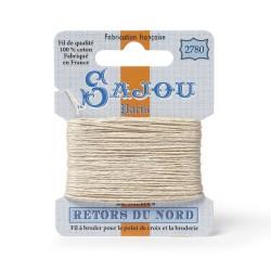 Sajou Retors Du Nord Cotton Embroidery Thread-2780 Cream