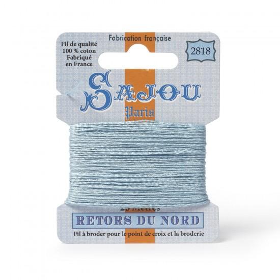 Sajou Retors Du Nord Cotton Embroidery Thread-2818 Blue