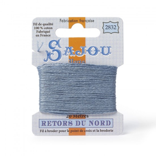 Sajou Retors Du Nord Cotton Embroidery Thread-2832 Grey
