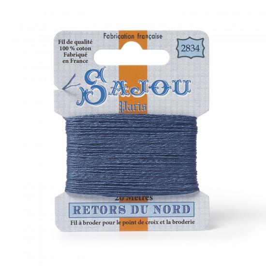 Sajou Retors Du Nord Cotton Embroidery Thread-2834 Blue