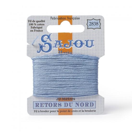 Sajou Retors Du Nord Cotton Embroidery Thread-2838 Blue