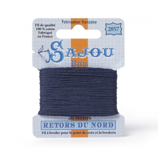 Sajou Retors Du Nord Cotton Embroidery Thread-2857 Blue