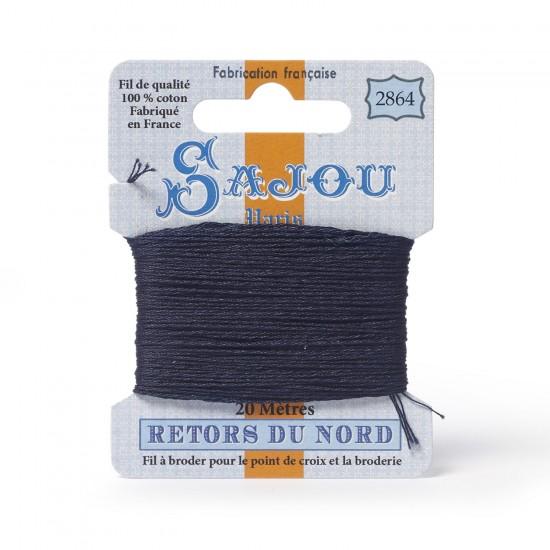 Sajou Retors Du Nord Cotton Embroidery Thread-2864 Blue