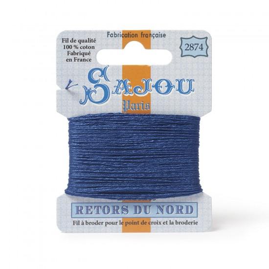 Sajou Retors Du Nord Cotton Embroidery Thread-2874 Blue