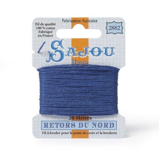 Sajou Retors Du Nord Cotton Embroidery Thread-2882 Blue