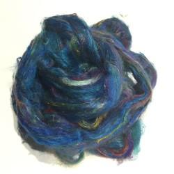 Sari Silk- Aqua- approx 5 Grams