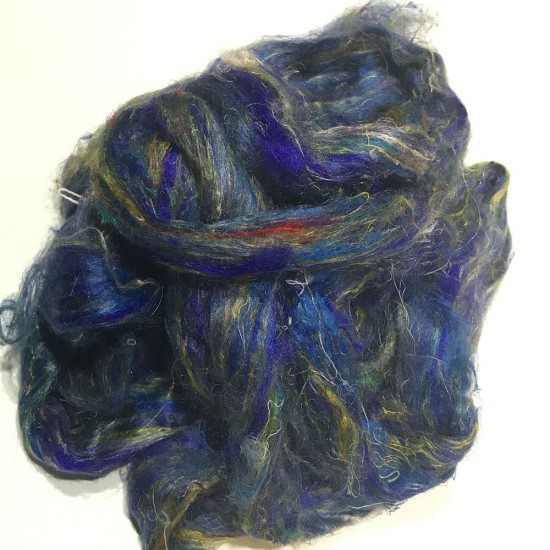 Sari Silk- Blue- approx 5 Grams