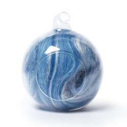 Merino and silk wool blends -Blue and White 25 Grams