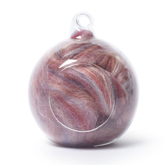 Merino and silk wool blends -Blue, Purple and Pink 25 Grams