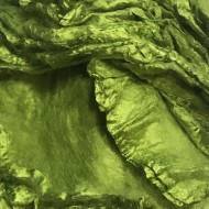 Mulberry Silk Hankies- Caipirinha Green- approx 10 Grams