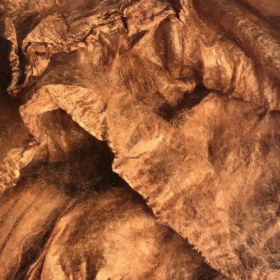 Mulberry Silk Hankies- Cinnamon Orange- approx 10 Grams