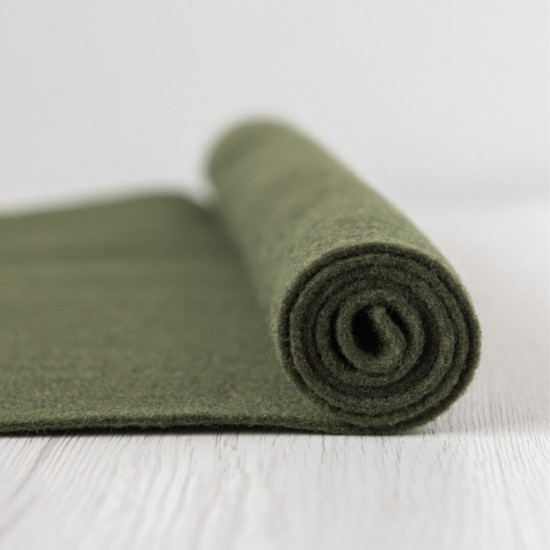 2mm Thermoformable Wool Felt-Army