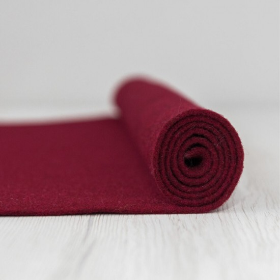 2mm Thermoformable Wool Felt-Bordeaux