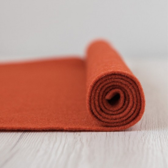 2mm Thermoformable Wool Felt-Brick