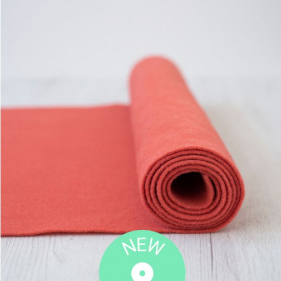 2mm Thermoformable Wool Felt-Coral