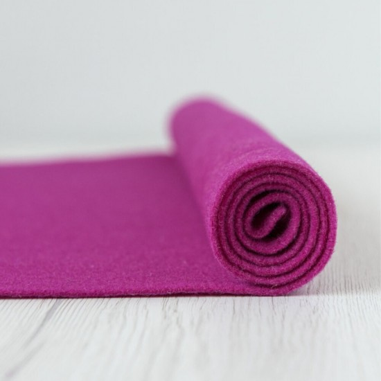2mm Thermoformable Wool Felt-Fuxia