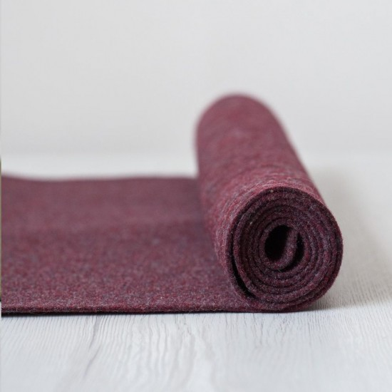 2mm Thermoformable Wool Felt-Heather