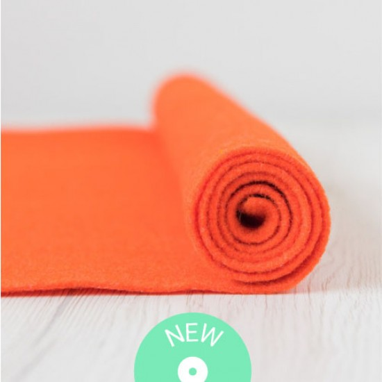 2mm Thermoformable Wool Felt-Orange