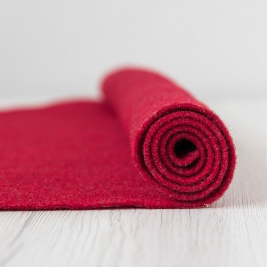 2mm Thermoformable Wool Felt-Strawberry